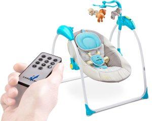 huśtawka niemowlęca z pilotem